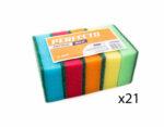 czyscik-gabka-do-naszyn-perfecto-maxi-duza-5-sztuk-mix-kolor-21-dwadziesciajeden-opakowan