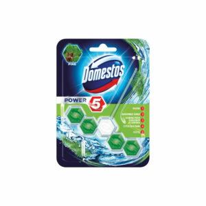 domestos-power-5-pine-zapach-lesny-kostka-higiena-dlugotrwaly-zapach-ochrona-przed-osadzaniem-sie-kamienia-czyszczaca-piana-polysk