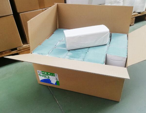 reczniki-papierowe-cliro-zielone-caly-karton