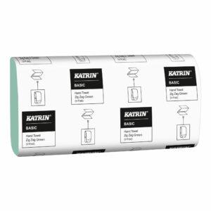 katrin-recznik-papierowy-basic-hand-towel-zig-zag-towel-green-v-fold