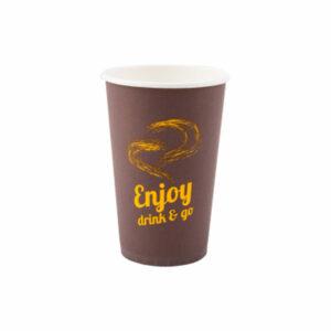 kubek-papierowy-enjoy-drink-and-go-brazowy-pomaranczowy-napis-400-ml