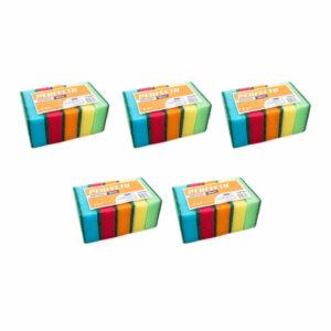 perfecto-czyscik-gabka-5-opakowan-rozne-kolory-dwustronna-do-mycia-naczyn-zestaw