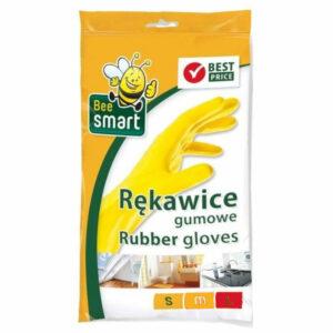 rekawice-zolte-gumowe-elastyczne-bawelniana-podczewka-bee-cedo-sprzatanie-wygodne-do-mycia-rozmiar-l