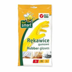 rekawice-zolte-gumowe-elastyczne-bawelniana-podczewka-bee-cedo-sprzatanie-wygodne-do-mycia-rozmiar-s