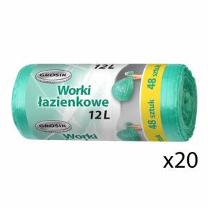 worki-lazienkowe-na-smieci-odpady-12-l-grosik-zielone-48-sztuk-zestaw-20-rolek